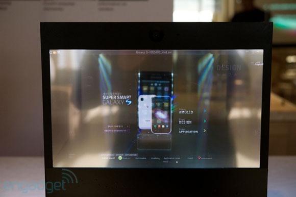 الشاشة الشفافة من سامسونج