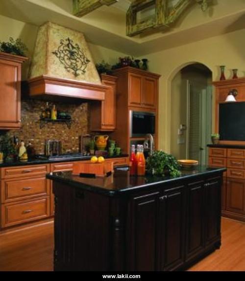 منطقة الفرن و ديكور متميز للمطبخ