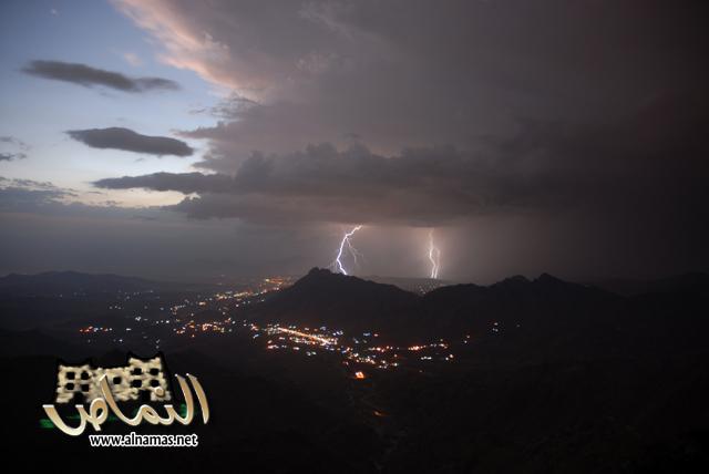 صور للنماص وقت الامطار والعواصف (الجزء الثاني ))