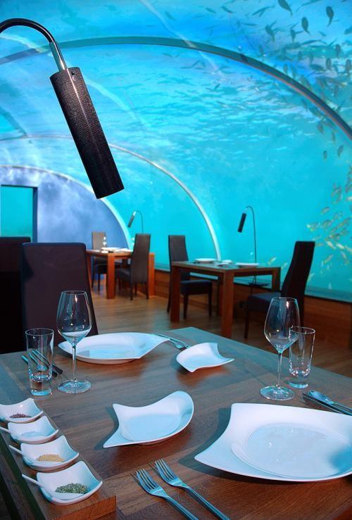صور مطعم في جزيرة مالاوي داخل البحر بسعر خيالى
