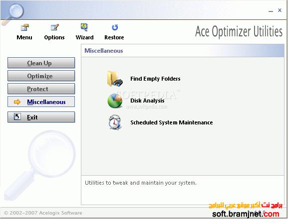 برنامج تسريع الويندوز لاقصى حد Ace Utilities