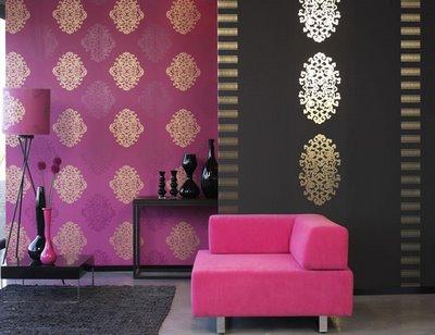 ورق حائط بالوان جذابة