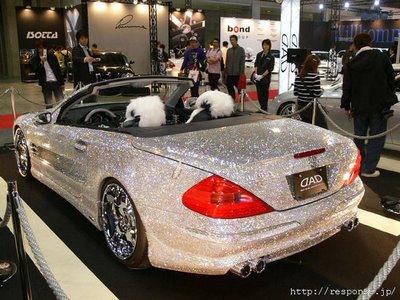 سيارات مرسيدس مرصعه من الماس