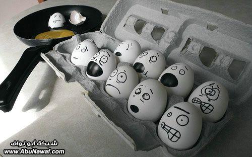 الرسم على البيض ,,