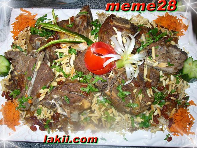 ارز باللحم والمكسرات طبق فاخر للعزايم وللولائم رمضان