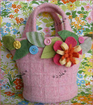 اصنعي حقيبه لابنتك--