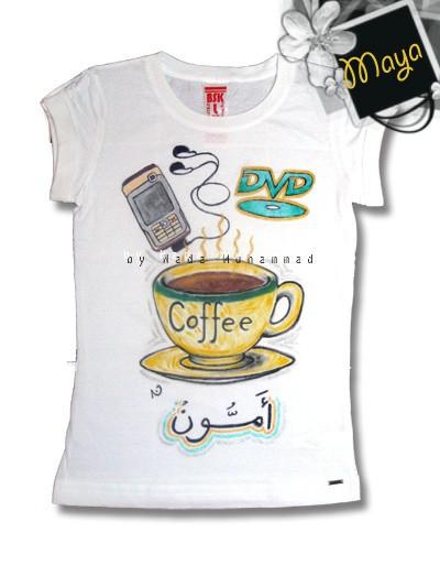 فن بنت سعودية ترسم على التشيرتات
