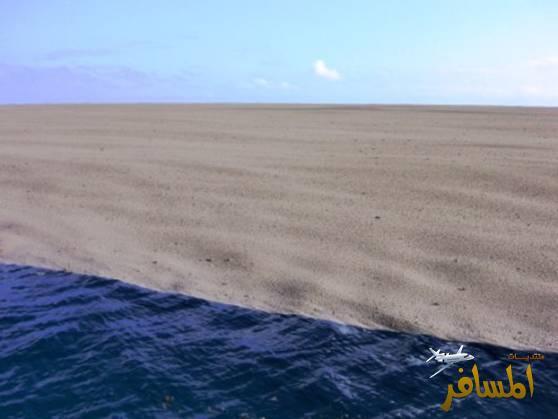 ظاهرة عجيبة وغير طبيعيه في وسط المحيط