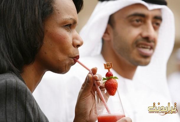 كوندليزا وعصير الفراوله ..هع هع