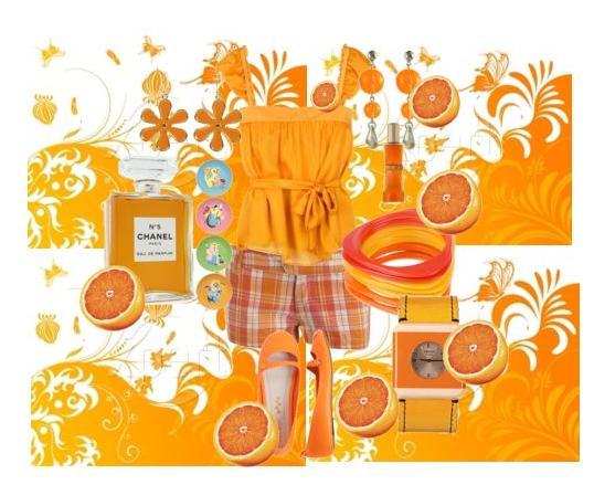 فساتين بالون البرتقالي