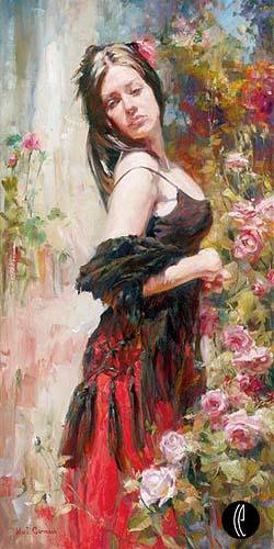 الانوثة في لوحات تشكيلية بالالوان الزيتية