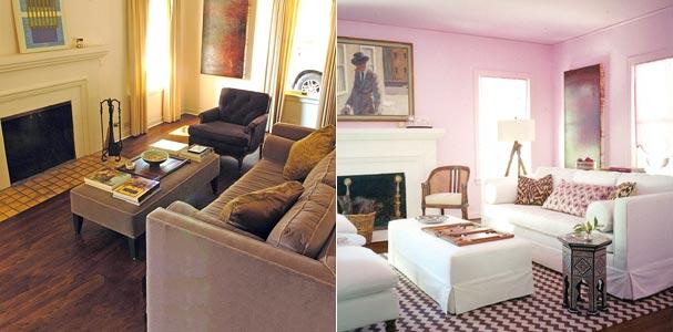 غرف معيشة ...تتغنى بالوان الربيع