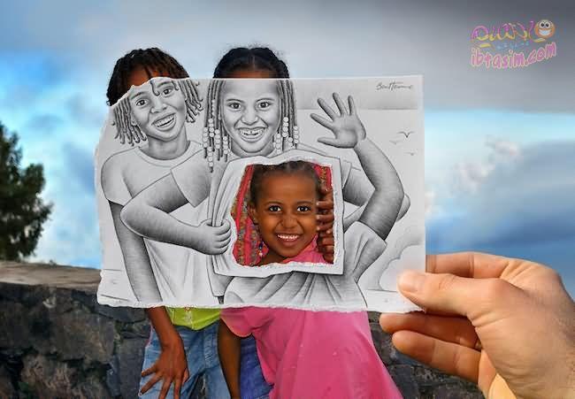 تركيب الصور عن طريق الرسم