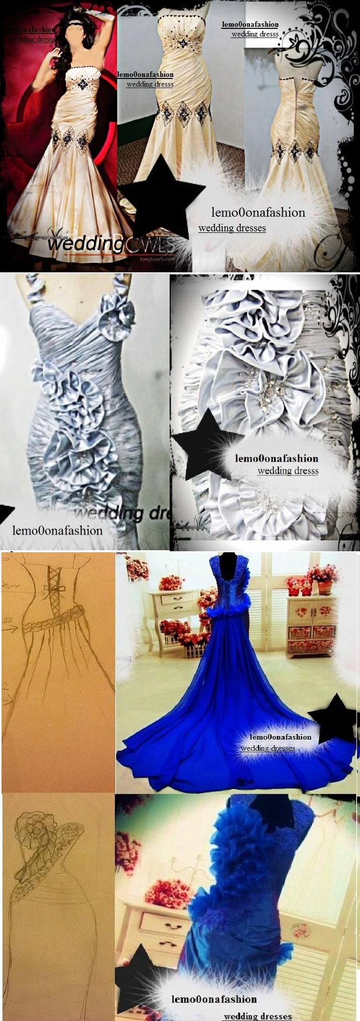 امتلكي فستان زفافك باسعار تتفاوت من 1500 الى 2600ريال +صور لفساتين تم تنفيذها