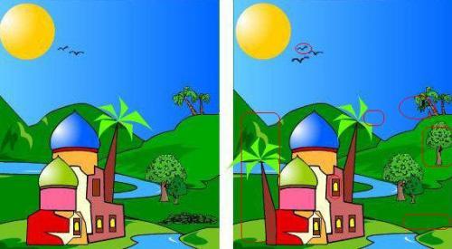 تحميل لعبة الاختلافات الخمسة بين الصورتين