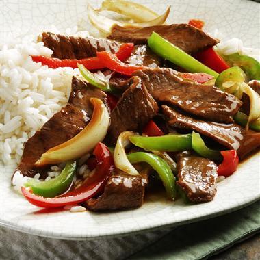 اللحم بالطريقه الصينيه ~\