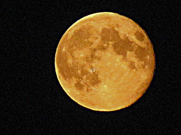 طلوع القمر فوق قرية مولهاوزن Mühlhausen مساء 1 سبتمبر 2012