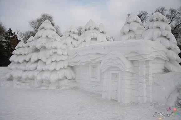 النحت على الجليد