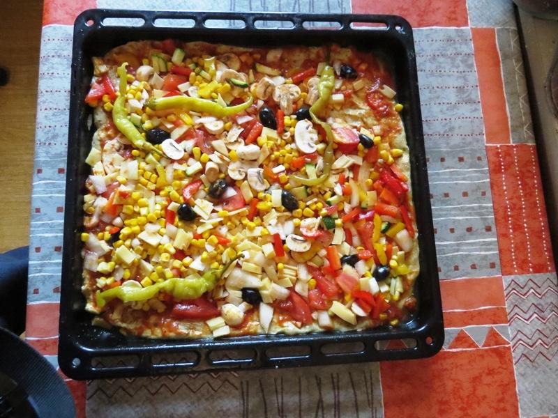 وصفة بيتزا الخضروات اللذيذة 29 تموز 2013