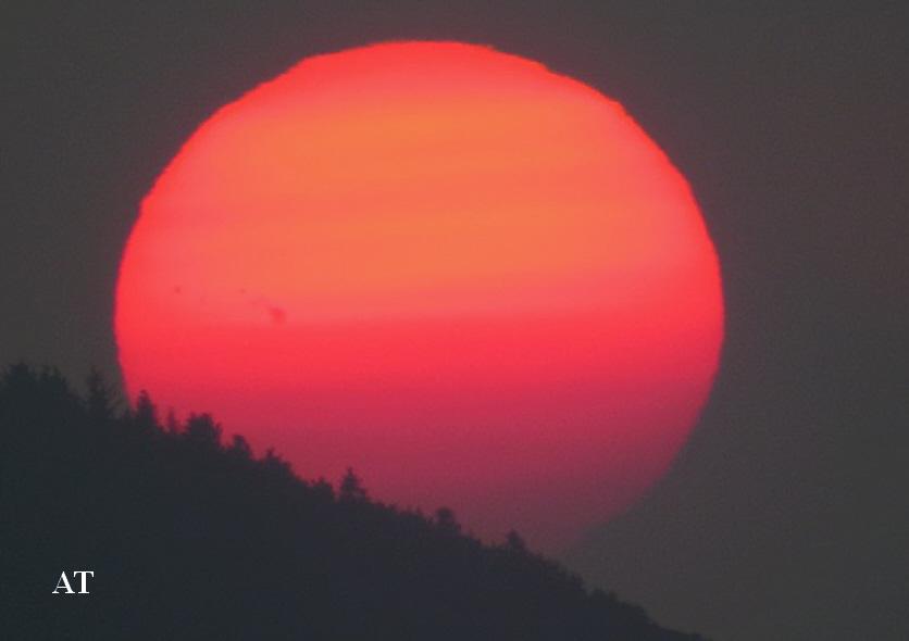 غروب الشمس الحمراء النادرة 5 تموز 2013