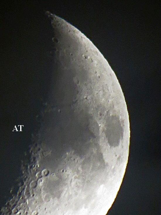 طلوع القمر المفاجئ فوق مدينتنا هذا المساء 10 أكتوبر 2013