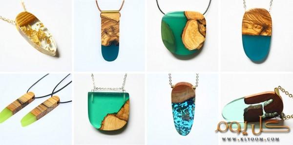 فنانة تحول الخشب القديم إلى مجوهرات فريدة