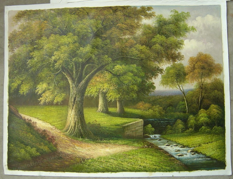 لوحات زيتيه لمناظر طبيعيه