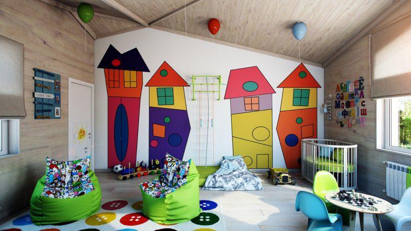 غرف الأطفال لوحات فنية مفرحة