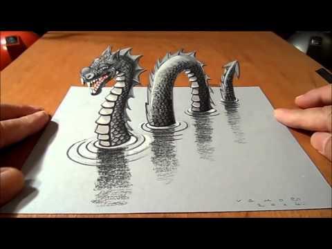 رسم ثلاثي الابعاد على الورق