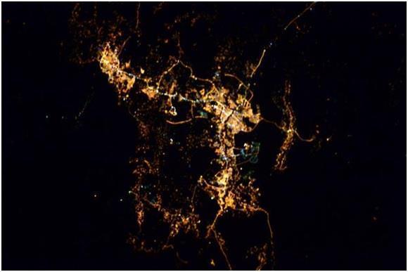 السعودية كما صورها رواد الفضاء