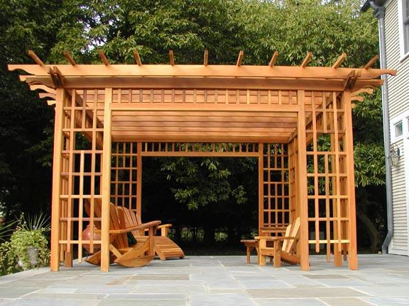ديكورات خشبية للحدائق الوان باهيه ومنظر خلاب