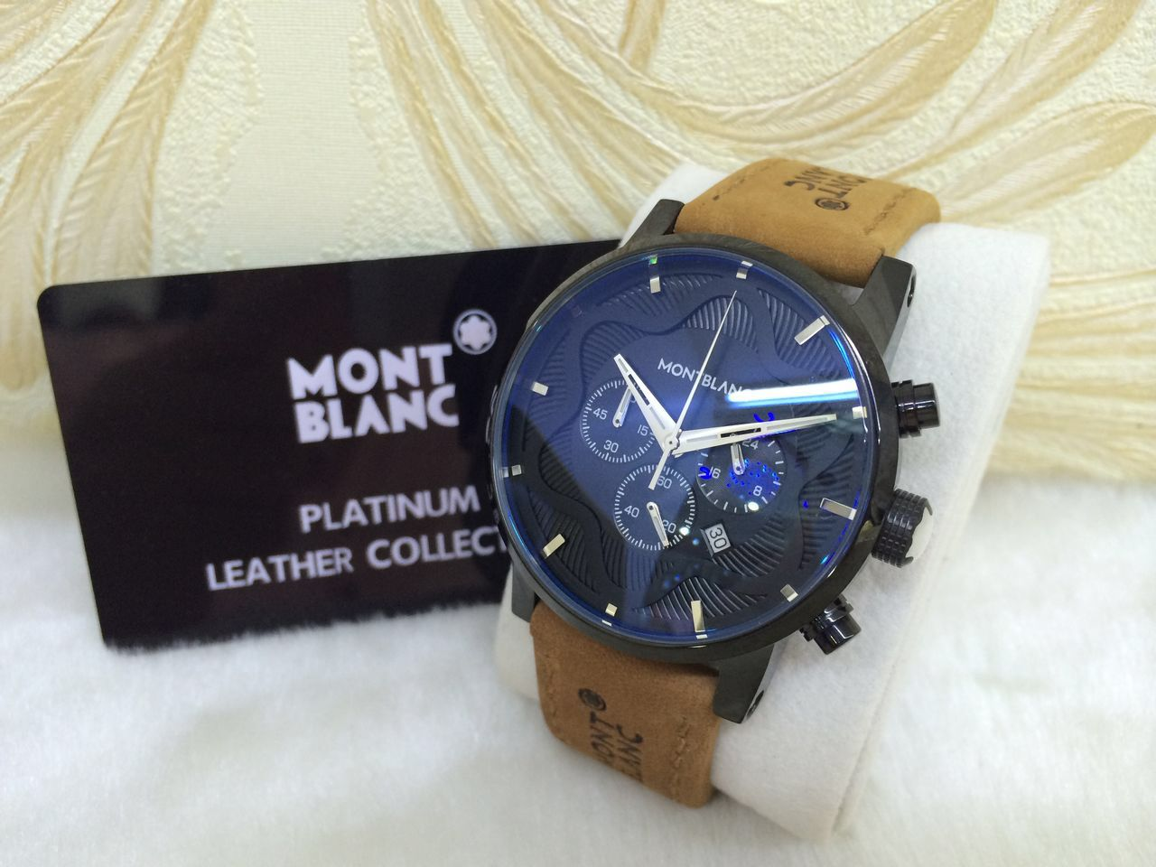 1d554e274 ساعات Mont Blanc ... hublot كوبي وان طبق الأصل - منتديات عبير