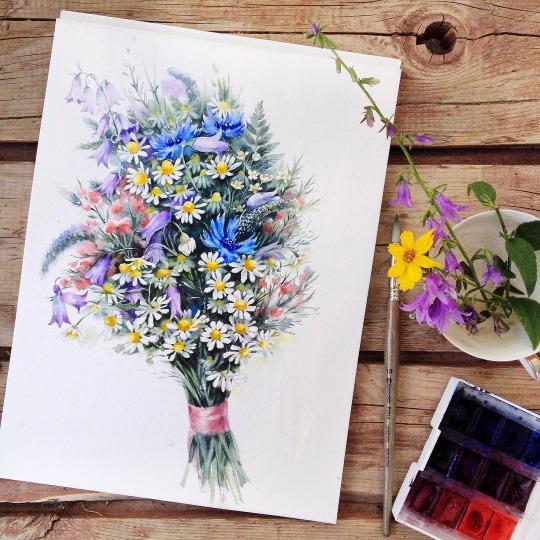 ريشة فنانة Flowers ll ...