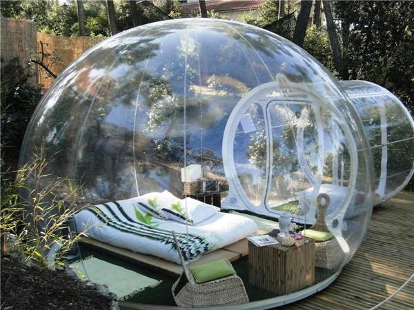خيمة الفقاعة الشفافة لمحبي التخييم