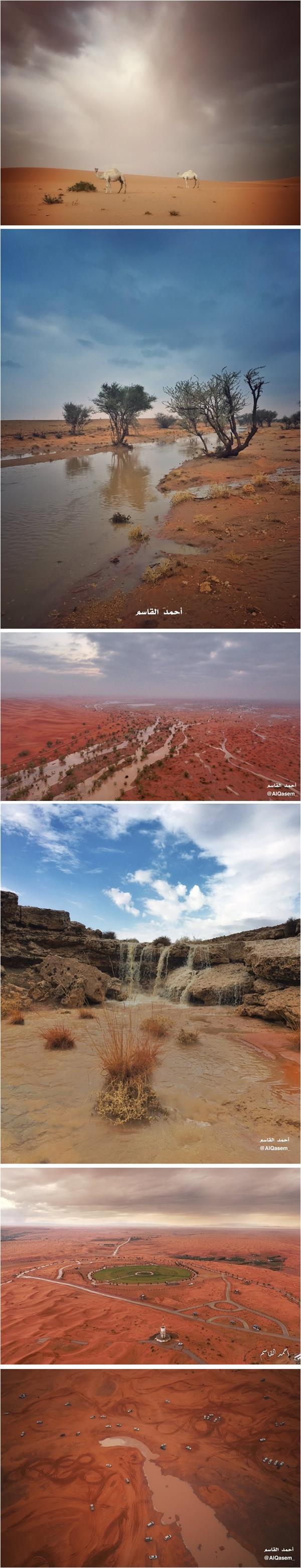 مصور يلاحق السحب والأمطار في الصحراء ليوثق مشاهد جمالية فريدة في المملكة (صور)