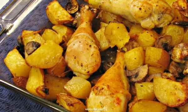 طريقة عمل صينية بطاطس بالدجاج شهية